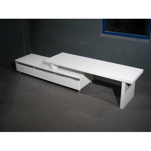 By Designs Glenda Large Entertainment Unit in White