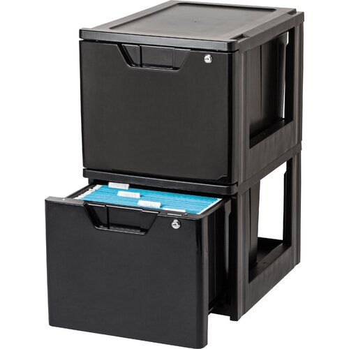1-Drawer Letter Size Stacking File (Set of 2)
