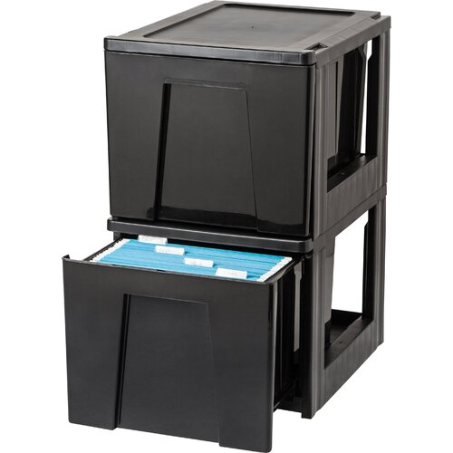 1-Drawer Heavy Duty Letter Size Stacking File (Set of 2)