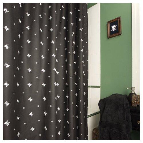 Sin In Linen Sin in Linen Cotton Skullstar Shower Curtain