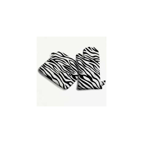 Sin In Linen Zebra Print Pot Holder in Black and White
