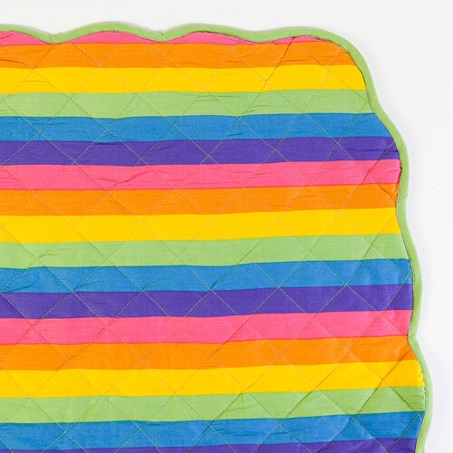 Sin In Linen Colorful Rainbow Print Playard Crib Blanket