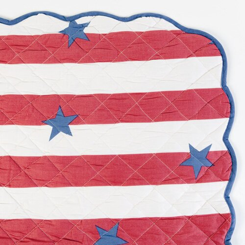 Stars and Stripes Crib Blanket