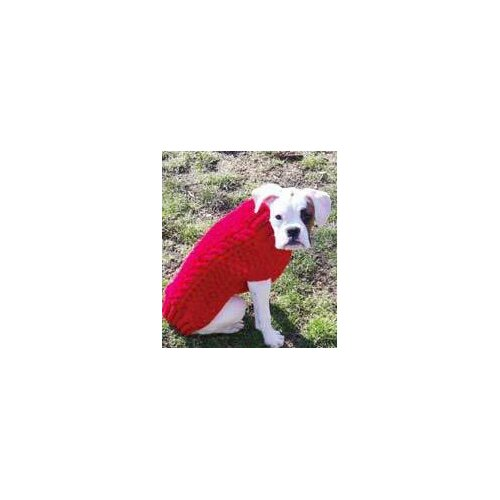 Red Cable Dog Sweater