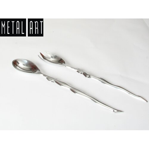Metal Art Figures Salad Servers