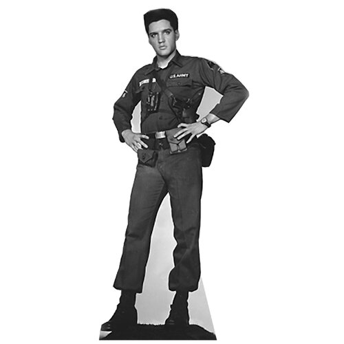 Advanced Graphics Cardboard Elvis Presley - Army Fatigues  Standup