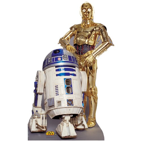 Advanced Graphics Star Wars - R2-D2 and C-3P0 Life-Size Cardboard Stand-Up