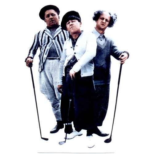 Advanced Graphics Three Stooges - Golf Life-Size Cardboard Stand-Up