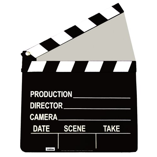 Advanced Graphics Cardboard Hollywood Film Clapper Standup
