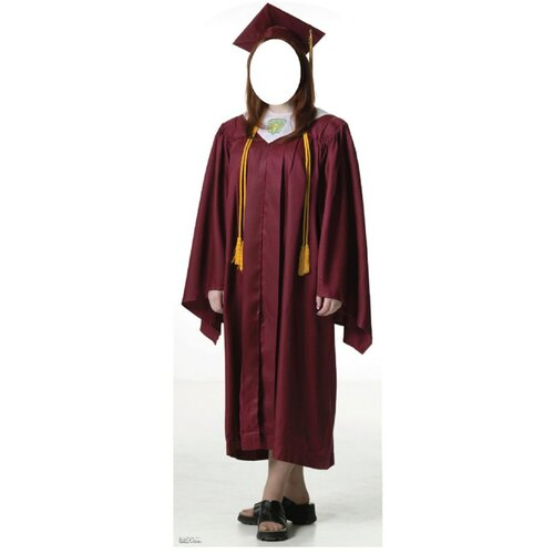 Advanced Graphics Life-Size Stand-Ins Female Graduate Cap and Gown Stand-Up
