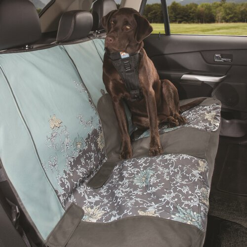 Muted Floral Bench Seat Cover