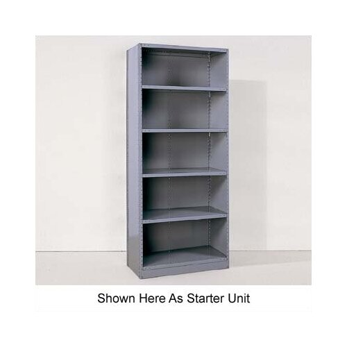 "Republic Industrial Clip Closed 85"" H 6 Shelf Shelving Unit Starter"