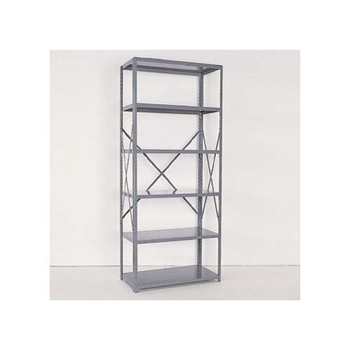 "Republic Industrial Clip Open 85"" H 5 Shelf Shelving Unit Starter"