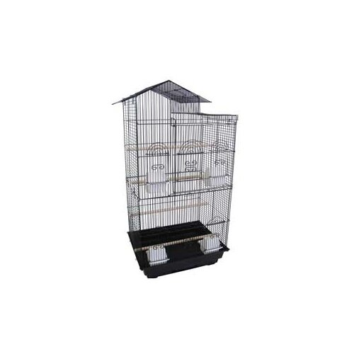 Villa Top Small Bird Cage with 4 Feeder Doors