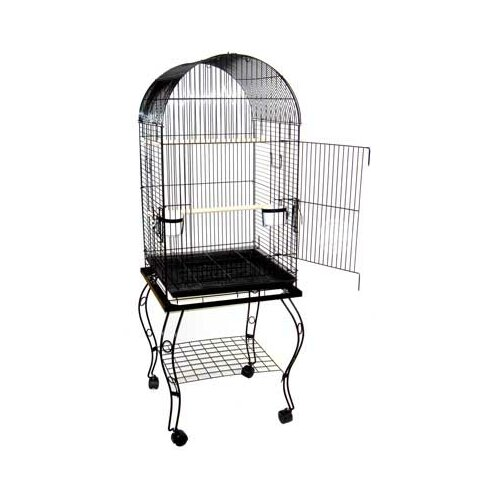 YML Dome Top Parrot Bird Cage with Stand