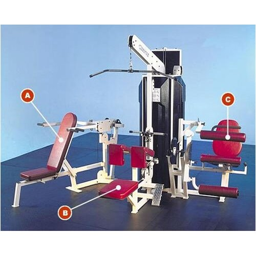 Q-400 Series Multi-Station Commercial 3 Stack Home Gym Set