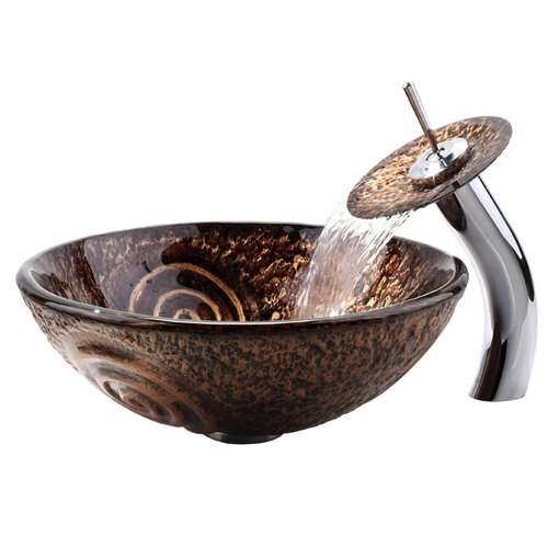 Copper Luna Glass Vessel Sink