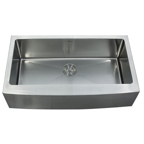 "Kraus 35.88"" x 20.75"" Farmhouse Kitchen Sink"