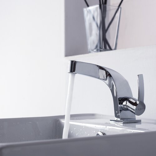 Kraus Bathroom Combos Single Hole Typhon Faucet and Bathroom Sink