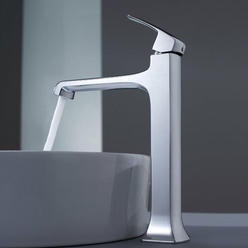 Kraus Decorum Round Ceramic Bathroom Sink and Faucet