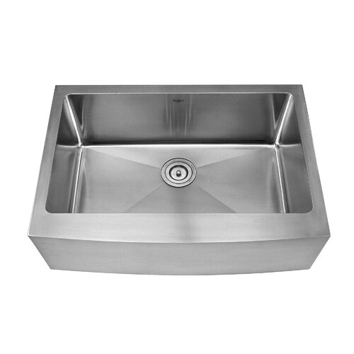 "Kraus 29.75"" x 20.75"" Farmhouse Kitchen Sink with Faucet and Soap Dispenser"