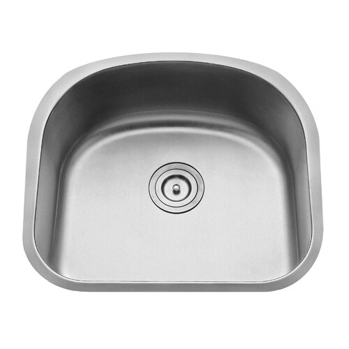 "Kraus 23.25"" x 20.88"" Undermount Single Bowl Kitchen Sink with Faucet and Soap Dispenser"