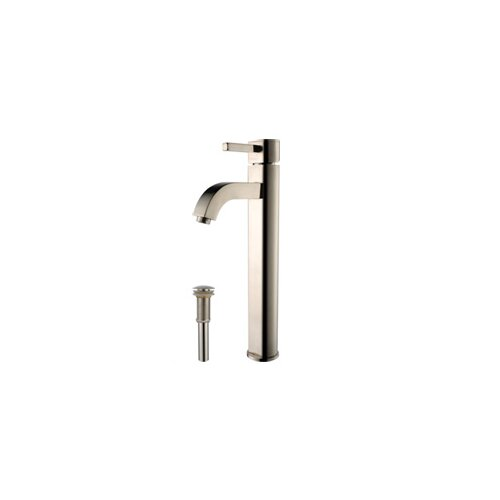 Ceramic Rectangular Bathroom Sink and Ramus Single Lever Faucet