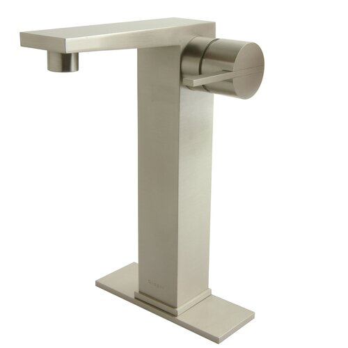 Contemporary Single Hole Bathroom Faucet with Single Handle