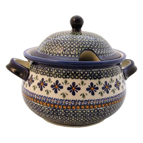 Euroquest Imports Polish Pottery 3 Qt Tureen with Cover