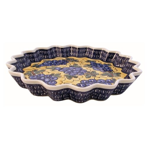 "Euroquest Imports Polish Pottery 12.5"" Fluted Pie Plate"