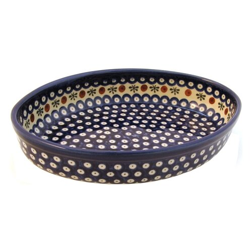 "Euroquest Imports Polish Pottery 12"" Oval Baking Pan"