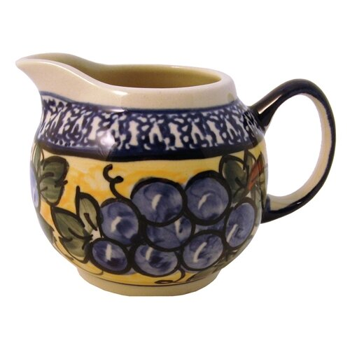 Euroquest Imports Polish Pottery 8 oz. Creamer