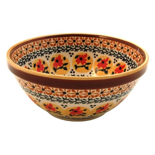 Euroquest Imports Polish Pottery Pattern DU70 16 oz. Soup / Cereal Bowl