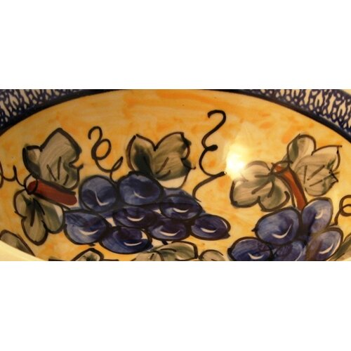 "Euroquest Imports Polish Pottery 8"" Serving Bowl"