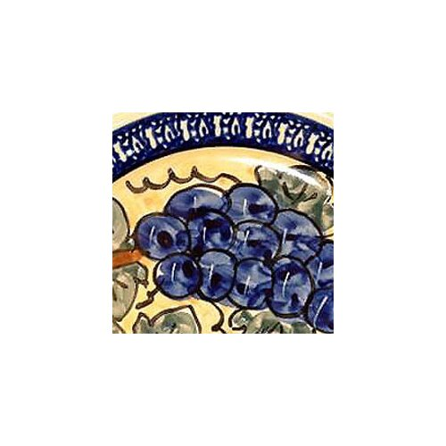 Euroquest Imports Polish Pottery Napkin Ring - Pattern DU8