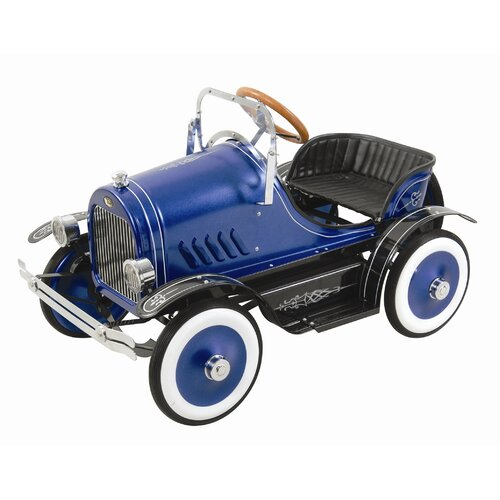 Dexton Kids Deluxe Roadster Pedal Car in Blue
