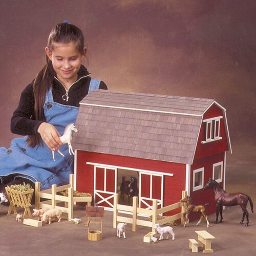 Real Good Toys  Finished & Ready to Play Ruff 'n Rustic Barn Dollhouse