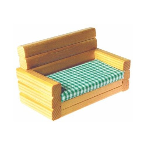 Solid Pine Settee Couch Doll Furniture