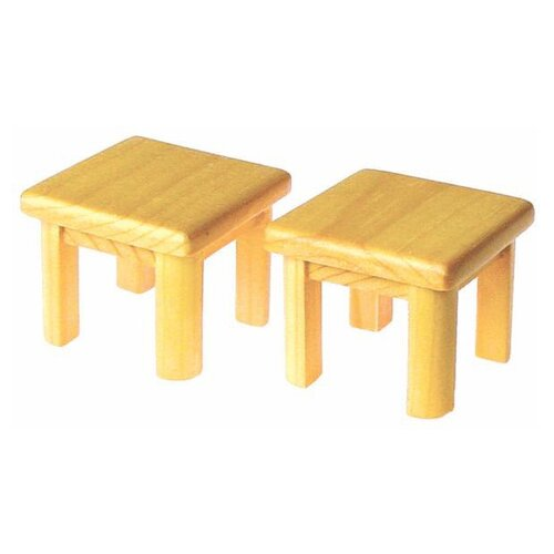 Solid Pine End Tables Doll Furniture (Set of 2)