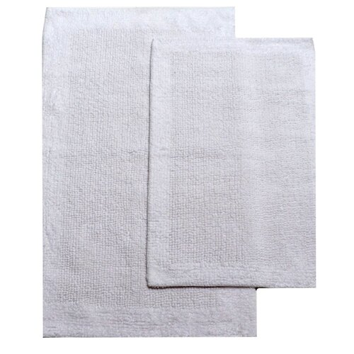 Cotton Reversible 2 Piece Bath Rug Set