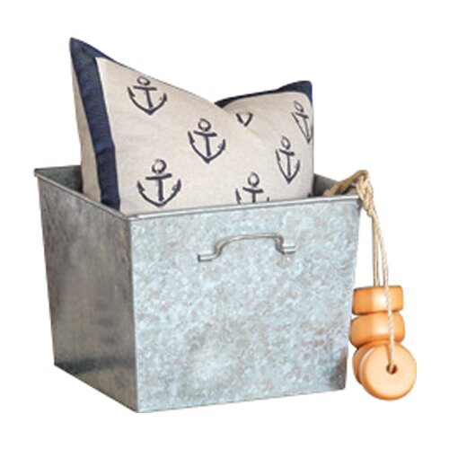 Ryder Block Printed Anchors Accent Pillow