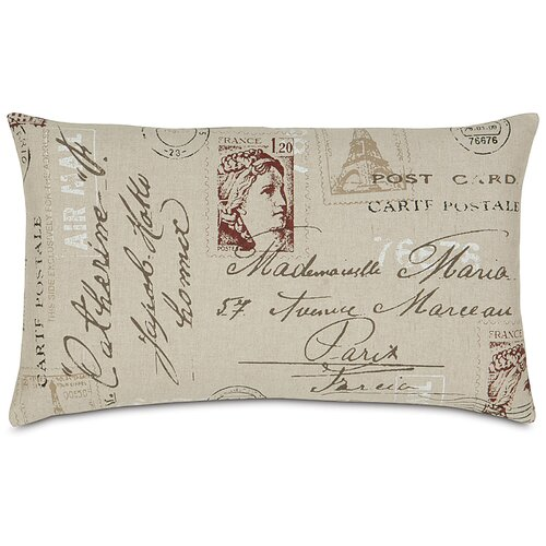 French Country Vintage Postcard Pillow