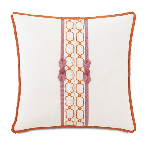 Witcoff Ivory with Bows Pillow