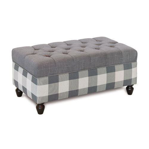 Wildon Home Upholstered Storage Bedroom Bench: Tufted Storage Bench