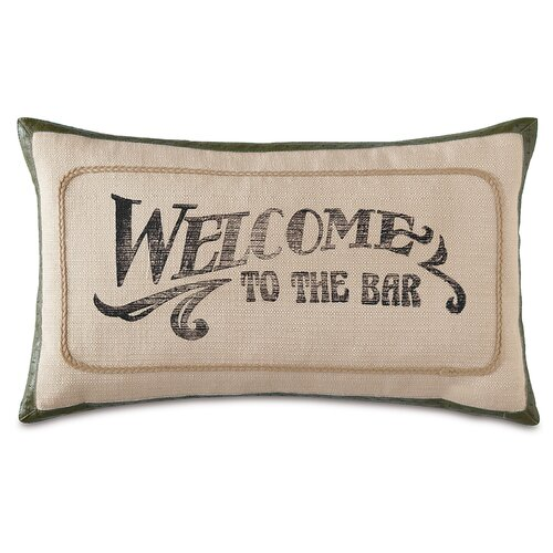 Man Cave Welcome to the Bar Pillow