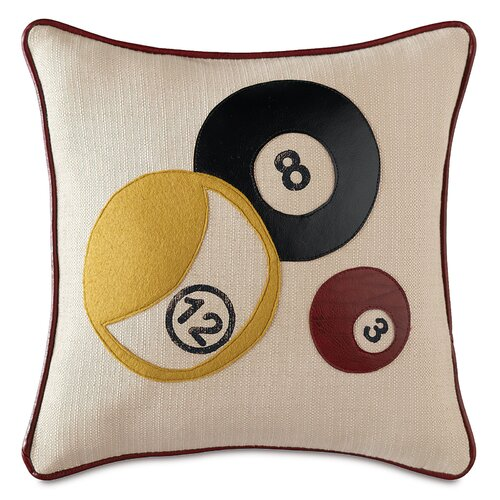 Man Cave Billiards Pillow
