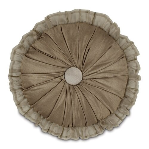 Marbella Shantung Cafe Round Pillow