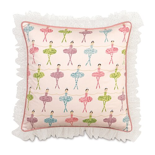 Eastern Accents Matilda Polyester Decorative Pillow with Ruffle