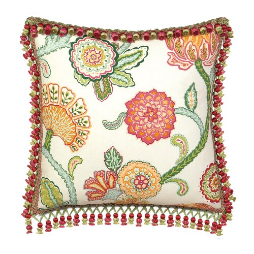 Eastern Accents Portia Polyester Decorative Pillow with Tassel Trim