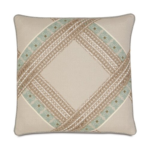 Avila Polyester Vivo Bisque Diamond Decorative Pillow